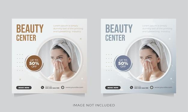 Beauty-salon social media post-vorlage