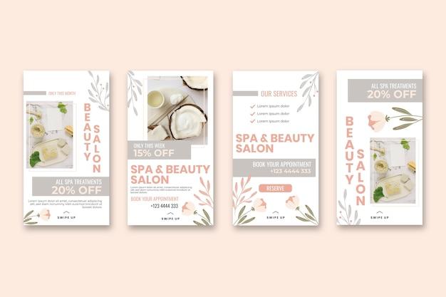 Beauty-salon-story-vorlagen