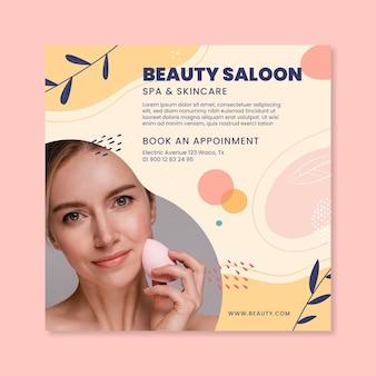 Beauty saloon flyer vorlage