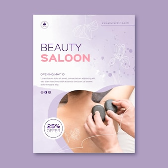 Beauty saloon flyer vorlage