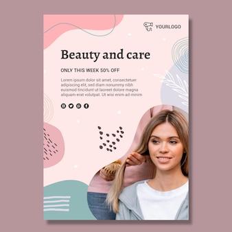 Beauty saloon flyer vorlage Kostenlosen Vektoren