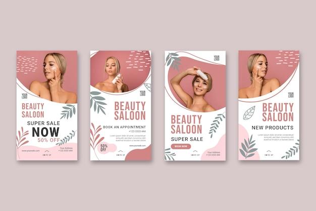 Beauty saloon geschichten konzept