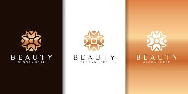 Beauty spa logo design, mit linienkonzept