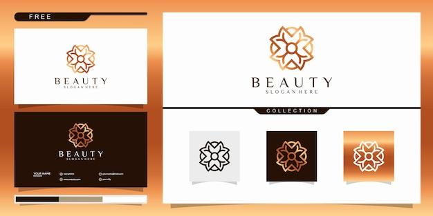 Beauty spa logo mit linienkonzept