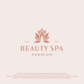 Beauty spa logo vorlage