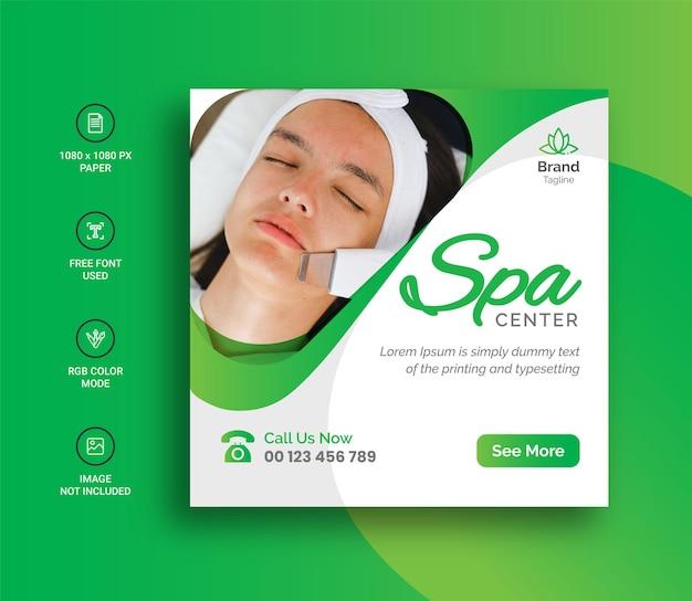 Beauty spa social media banner und instagram post