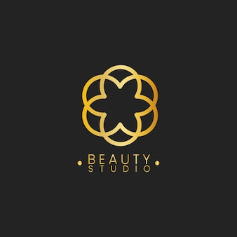 Beauty studio design logo vektor
