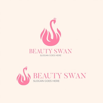 Beauty swan logo design