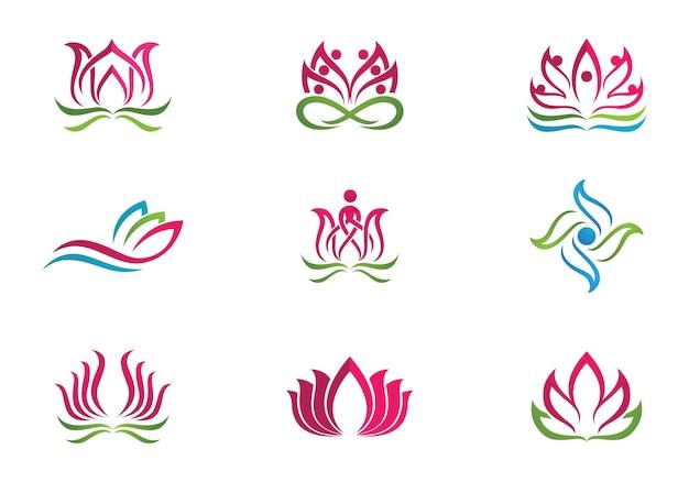 Beauty-vektor-lotus-blumen-design-logo-vorlage-symbol