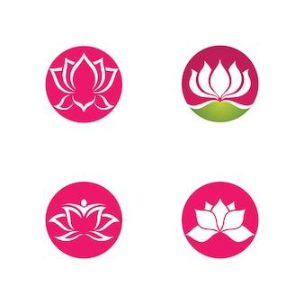 Beauty-vektor-lotusblumen-design-logo-vorlage-symbol template