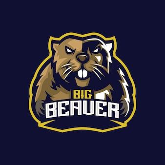 Beaver e sport logo