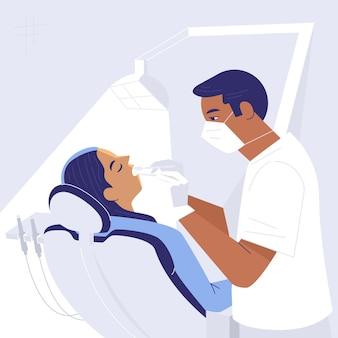 Bebildertes zahnpflegekonzept