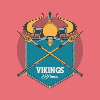 Bedrucktes t-shirt der wikinger-krieger
