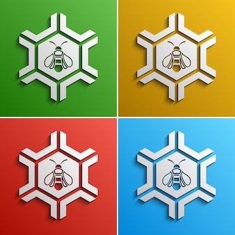 Bee stilisiertes logo, farboptionen
