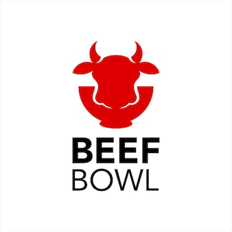 Beef bowl logo design cuisine meat