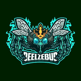 Beelzebub maskottchen logo vorlage