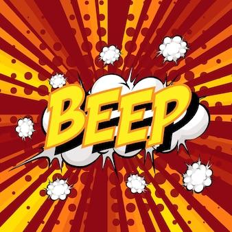 Beep formulierung comic-sprechblase beim platzen