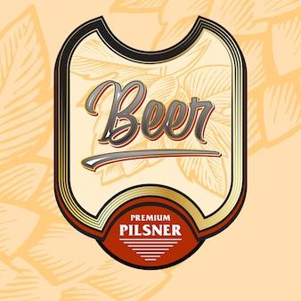 Beer label kühne getränke im vintage-stil