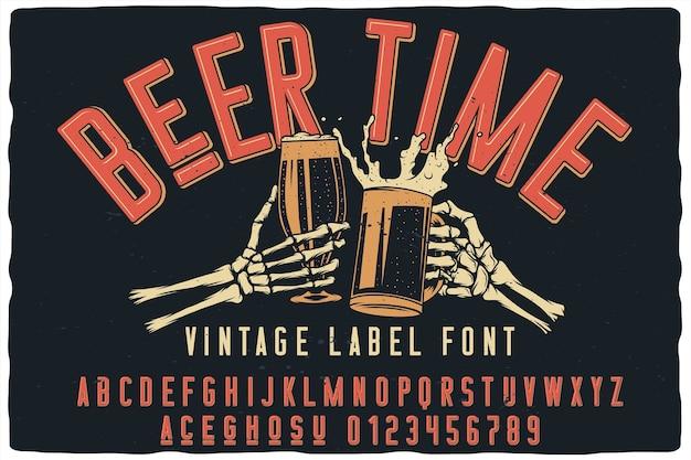 Beer time label schriftart