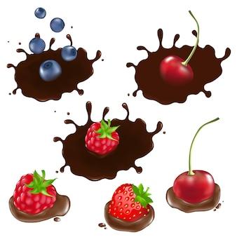 Beere in schokolade