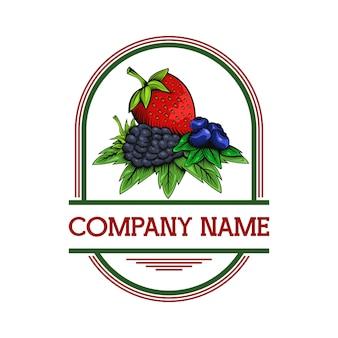 Beerenfrucht-designillustration