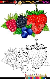Beerenfrüchte illustration für malbuch