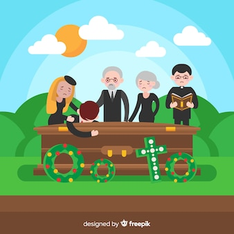 Begräbnis-kartenvorlage