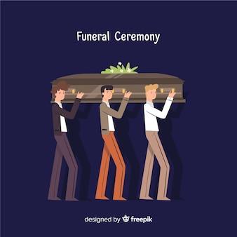 Begräbniszeremonie-hintergrund