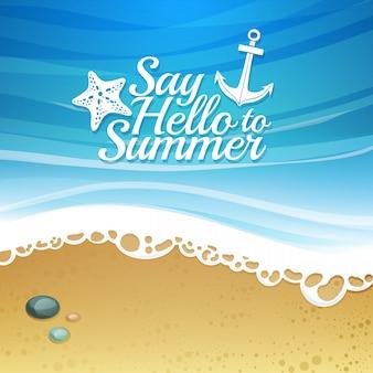 Begrüßen sie den sommer-hintergrund