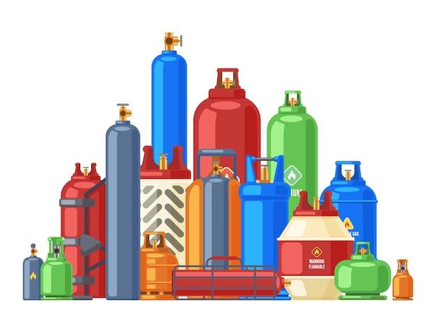 Behälter für brennbare butan- oder heliummetallgase