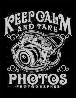 Behalten sie ruhe und machen sie fotos