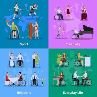 Behinderte menschen im aktiven leben