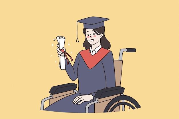 Behindertengerechtes bachelor-bildungskonzept
