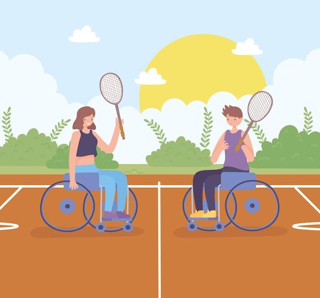 Behindertenkarikatur