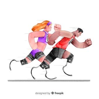 Behinderter athlet