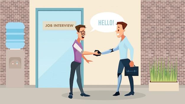 Behinderter neuer job opportunity vector concept