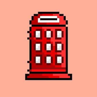 Beide telefonieren mit pixel art style
