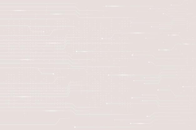 Beige datentechnologie-hintergrund mit stromkreislinien