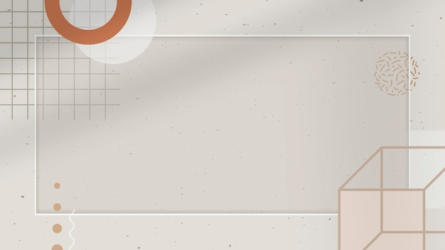 Beige ton memphis blog banner vorlage