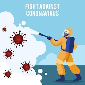 Bekämpfe das coronavirus
