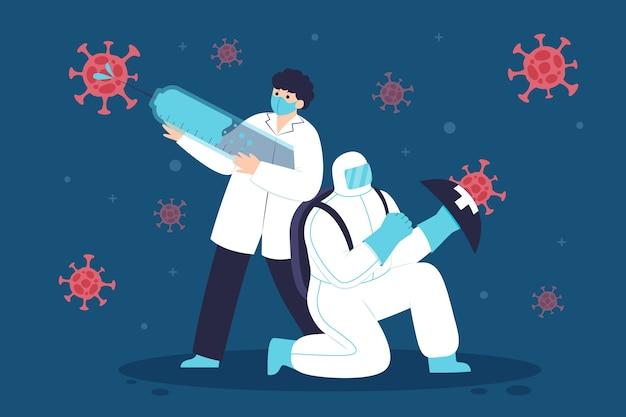 Bekämpfe das virusillustrationskonzept