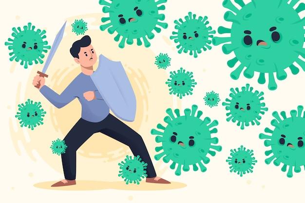 Bekämpfe das viruskonzept