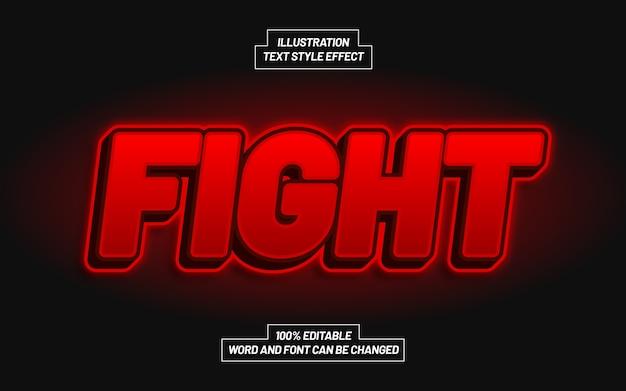 Bekämpfe den roten textstil-effekt