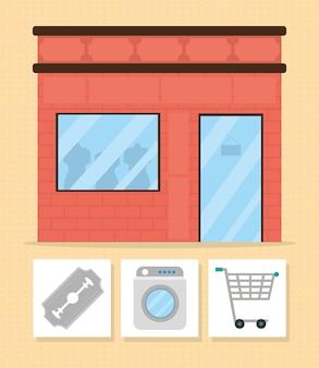Bekleidungsgeschäft und einkaufen