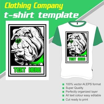 Bekleidungsunternehmen, t-shirt-vorlage, hund