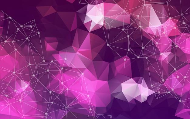 Beleuchtet lila dreieck oder mosaik für hintergrund
