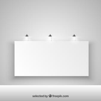 Beleuchtete leere plakatwand