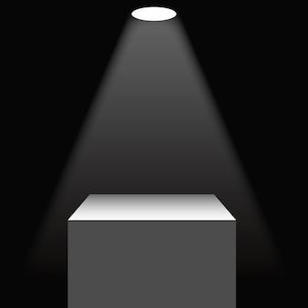 Beleuchteter sockel