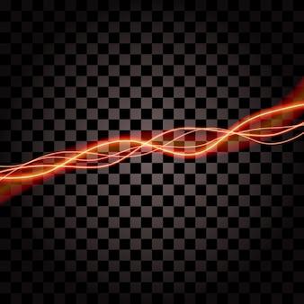 Beleuchtung des elektrischen donnersturmglühen-scheinvektors