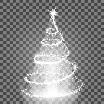 Beleuchtungslichtbaum isoliert auf transparentem hintergrund